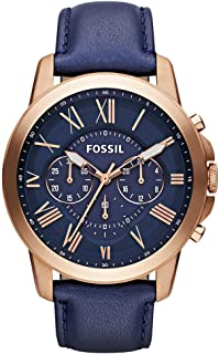 Fossil Homme Chronographe Quartz Montre avec Bracelet en Cuir FS5151