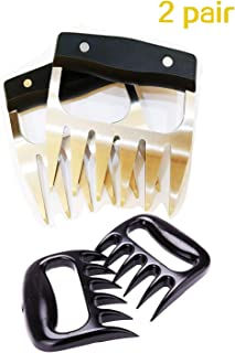 Best Starloop 2pair Meat Shredder Bear Claw – Stainless Steel Meat Forks with Handle - BBQ Meat Handler for Pulling, Shredding, Serving - Ultra-Sharp Blades, Easy to Clean & Safe to Use