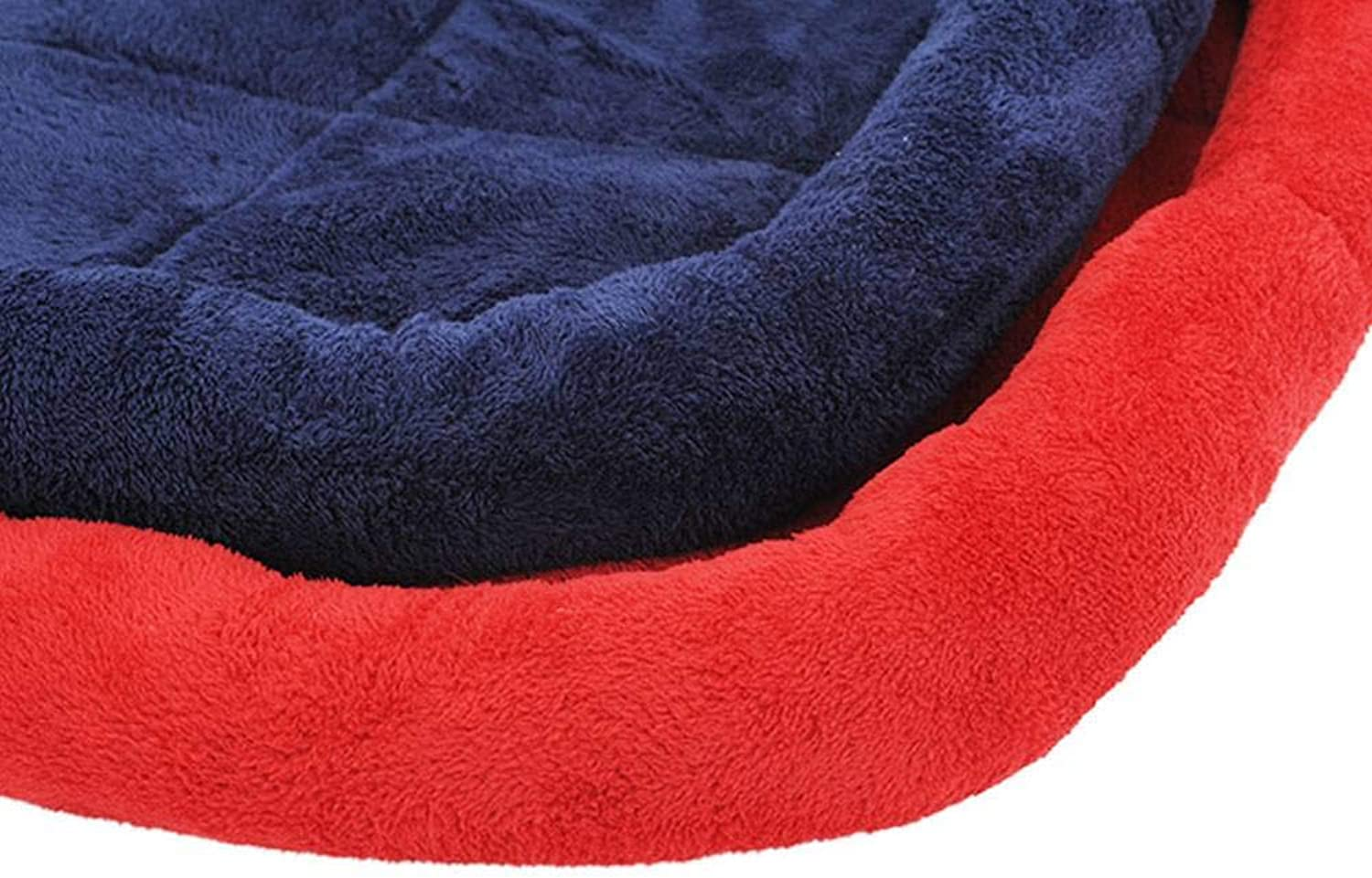 ADFHGFJ Pure color pet bed with lamb velvet provides rest for pets of cushions are suitable for four seasons.
