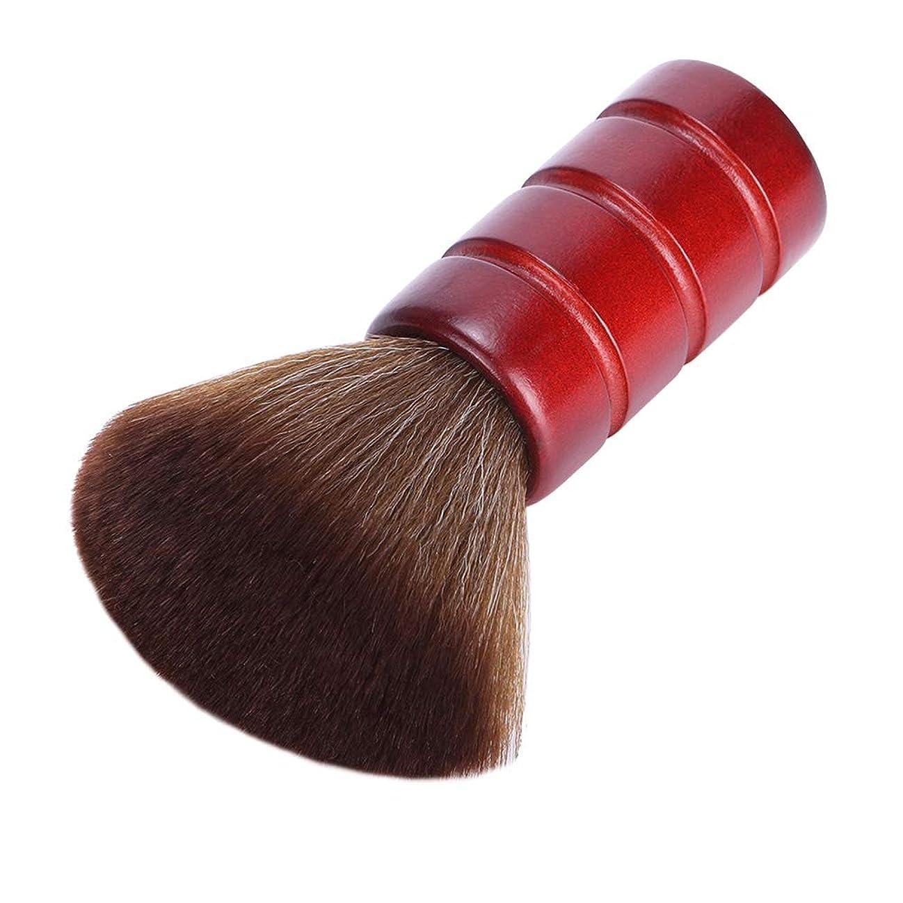 圧倒する崖浮くLurroseプロフェッショナルヘアカットブラシソフトファイバーフェイスネックダスターブラシ理髪サロン理容ツール