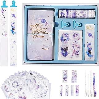 Cherry Washi Tape Set, Writing Journal Notebook, Scrapbook Stickers, Tape-Storage Bookmark, Galaxy Series