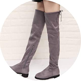 2018 Sexy The Knee High Suede Women Snow Boots Women's Fashion Winter Thigh Boots,