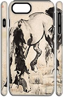 Babu Building Protect with Asian Horse Artists Shells Hard Pc and Soft Silica Gel Womon Use for Apple iPhone 7 Plus 8Plus 5.5