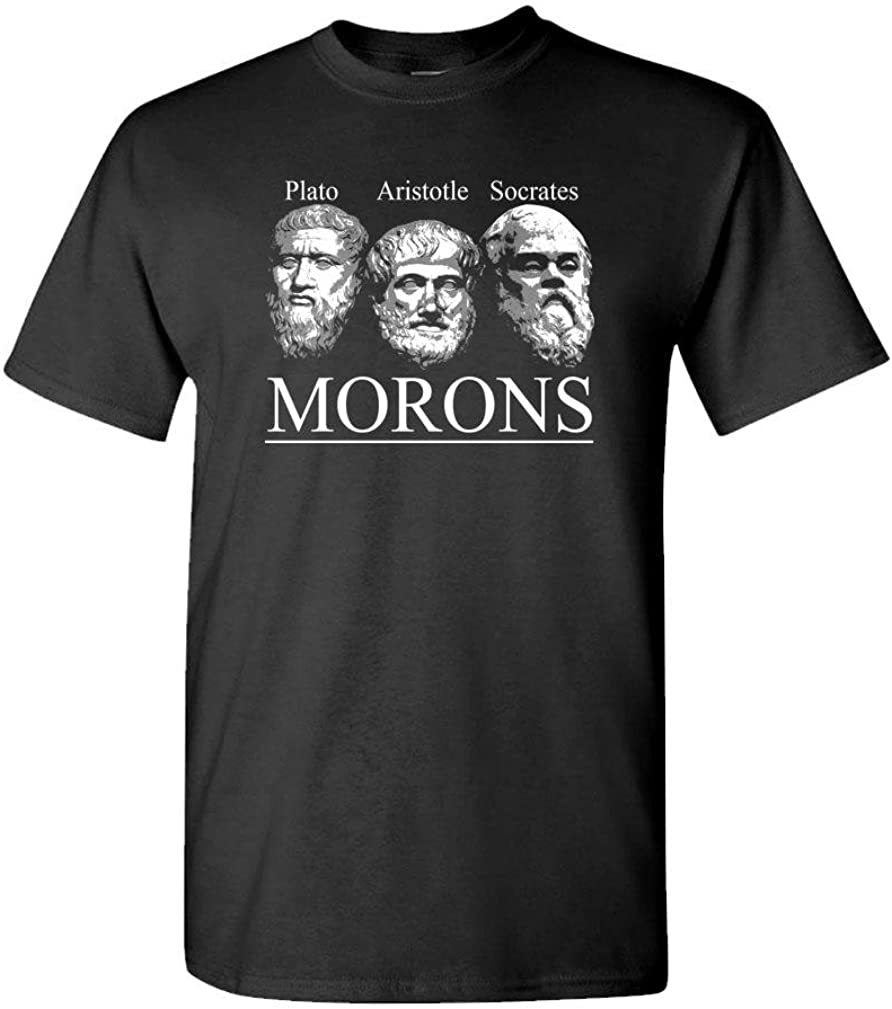 The Goozler Morons vezzini Quote Philosophers Funny - Mens Cotton T-Shirt