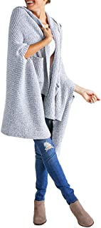 Women's Marshmallow Hooded Shawl with Arm Slots