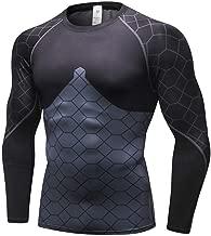 XIAOBAO Männer Bodybuilder Trainingsshirt Kurzarm Top,Men's Sportswear_Fitness Running Sportswear Breathable High Elastic Tights 4018,Funktionsshirt