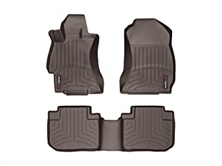 WeatherTech Custom Fit FloorLiner for Subaru Forester - 1st & 2nd Row (Cocoa)