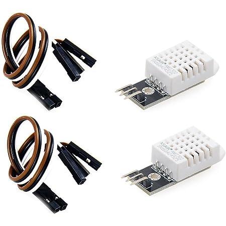 OSOYOO DHT22 デジタル 温度 湿度 センサー モジュール デジタル温湿度測定 ArduinoやRaspberry Pi 2 3電子工作用 2個セット