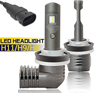 H11 H8 H9 LED Headlight Bulbs 6000K 5600Lumens 1:1 Design H9-65W H11LL H11-55W Low Beam Conversion Kits Bright White Fog Light Bulbs 2 Years Warranty (2 Packs)