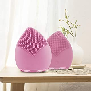 Win-digital Facial Cleansing Brush,Wireless Charge Waterproof IPX7 Sonic Face Massager Silicone Brush Face Scrubber Exfoliating Brush