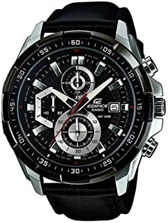 Casio Men's Dial Leather Band Watch - EFR-539L-1AVUDF