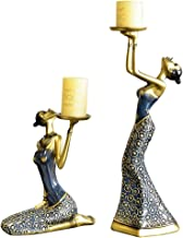 Candle Holder 1Pair Vintage Abstract Ladys Candles Holders Statue Sculpture Candlestick Candles Holder Home Decoration Acc...