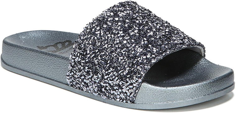 Fergalicious Womens siesta Fabric Open Toe Casual Slide Sandals