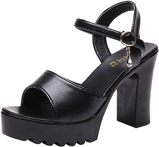Beautyjourney sandali zeppa donna estive eleganti - sandali donna con tacco sandali estivi donna elegante sandali plateau ...
