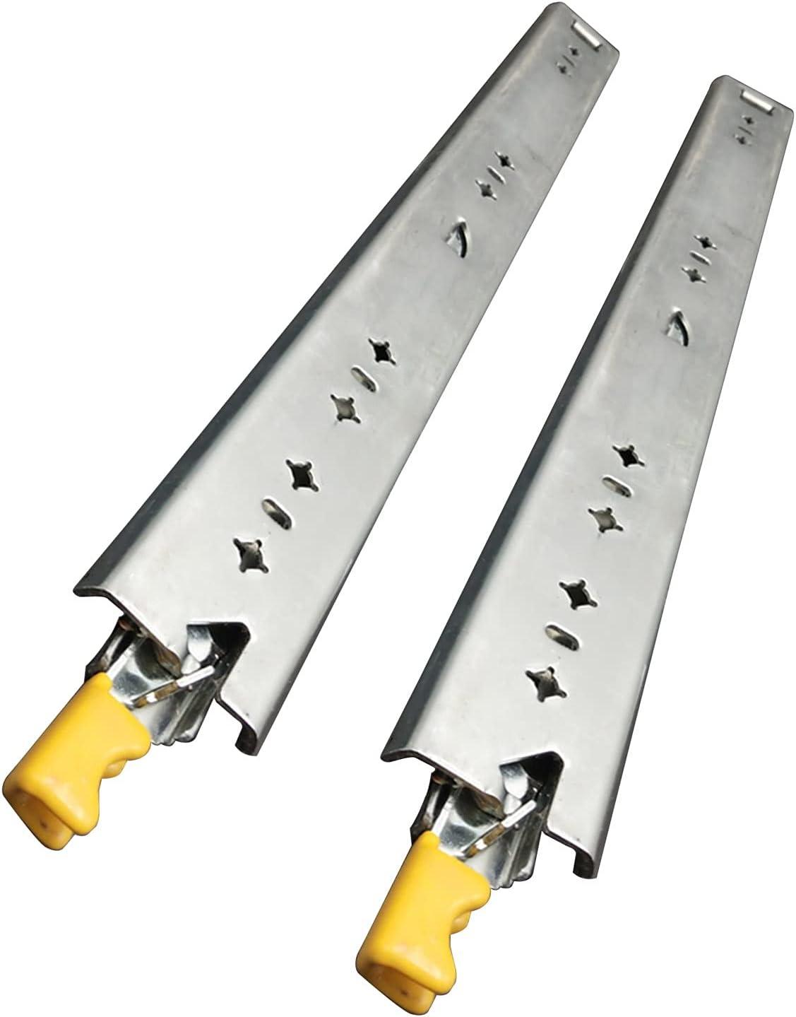 1 par de tiradores pesados, guías de cajones resistentes, rieles deslizantes, con función de la tarjeta de bloqueo / salida. Los extractores completos de servicio pesado, ancho de 53 mm, capacidad de
