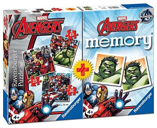 Ravensburger Avengers - Multipack de 3 Rompecabezas con 1 Juego Memory 211937