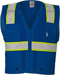 Red Enhanced Visibility Multi Pocket Mesh Vest