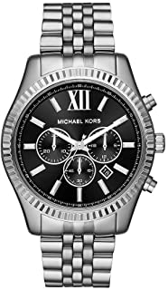 Michael Kors Lexington Men's Black Dial Stainless Steel Analog Watch - MK8602