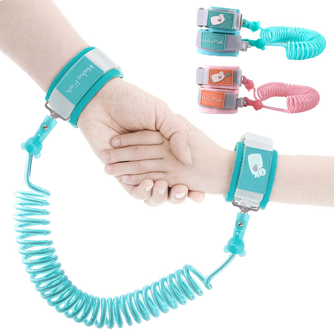 KONUNUS 2 Pieces Anti Lost Wrist Link Baby Anti Lost Leash Toddler Traction Belt Child Safety Wristband with Lock for Toddlers and Kids