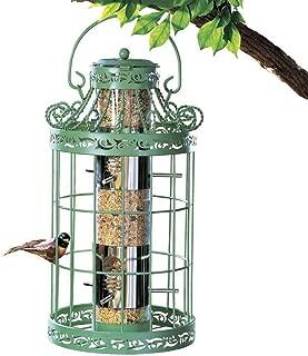 Round Steel Cage Tree Hanging Bird Seed Feeder Squirrel Proof Garden Yard Lawn