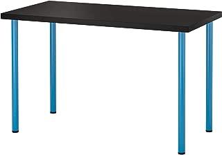 LINNMON / ADILS テーブル, ブラックブラウン, ブルー 292.464.12