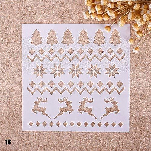 Uteruik Stencil afdrukken Tekenen Airbrush Schilderen Kerstmis DIY Craft Scrapbooking Album Decor, 1 stks