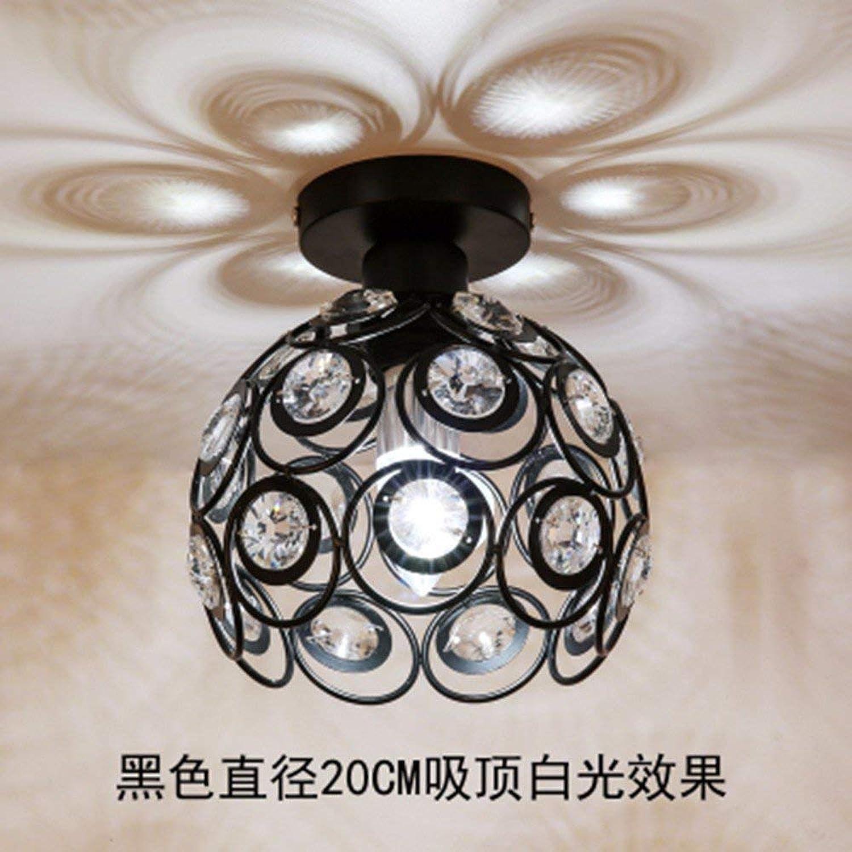 FuweiEncore Amerikanischen Stil deckenleuchten loft Flur Balkon treppe kristall Restaurant Lampe schwarz wei licht Durchmesser 20 cm