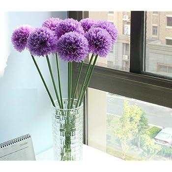 5  x Chrysanthemen violett  lila    Blumenköpfe  Kunstblumen Seidenblumen