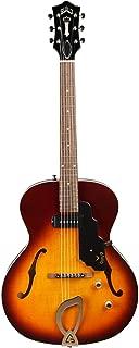 Guild T-50 Slim Hollow Body Electric Guitar with Case (Antique Burst)