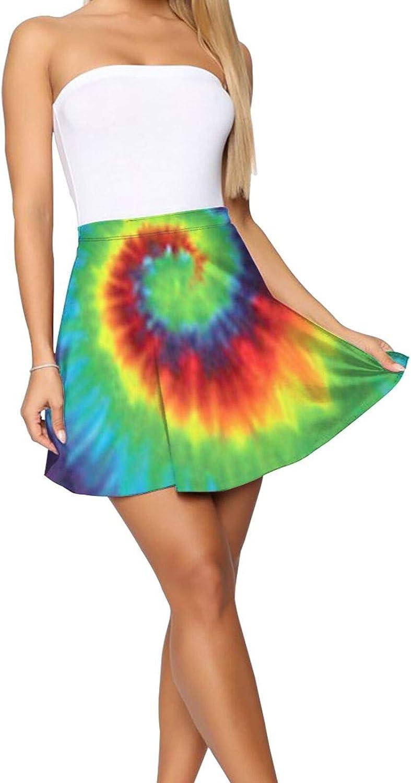 Vintage Israel Flag Women's Skater Skirt High Waist Short Skirt
