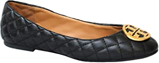 Benton Quilted Ballet Flat Nappa Leather Shoes