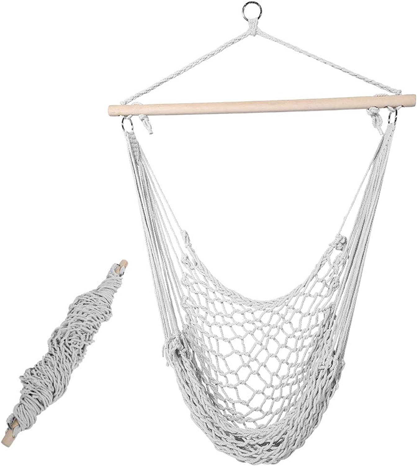 Camping Hammock, Net Swinging Hanging Bed for Outdoor Camping Garden Travel Beach