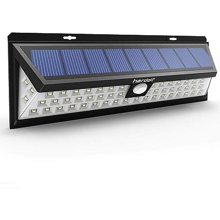 Hardoll Solar Lights 54 LED Solar Power Outdoor Motion Sensor Light With LED On Both Side, Waterproof