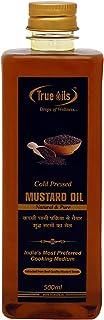 True Oils Cold Pressed Mustard Oil 16.90 fl. oz. (500 ml) for body massage and hair oil