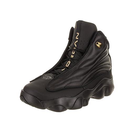 NIKE Boys  Jordan Pro Strong Basketball Shoes Black Metallic Gold 7Y fe32eba6c0593