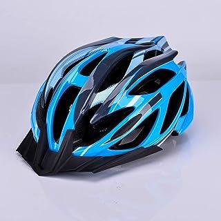 Tendencia 2019 Bicicleta de montaña bicicleta montar casco hombres y mujeres casco montar equipos con luces Durable (Color : Sky blue)