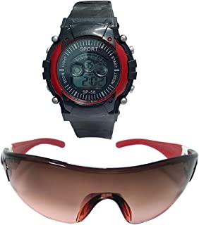 Top Trick Digital Watch For Boys + Full Eye Protected Goggle Suitable Age 3To 8 Yrs.7RG