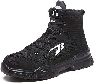 Mitudidi Chaussures de Sécurité Baskets Femme Homme Respirant Légère Chaussures de Randonnée Chaussures de Travail pour ét...