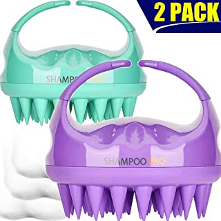 Shampoo Brush, 2 Pack Hair Scalp Massager Shampoo Brush [ 2020 Upgraded Version ] with..