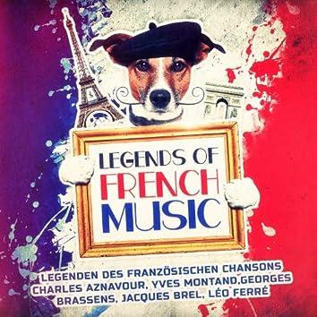 Legenden des französischen Chansons (Charles Aznavour, Yves Montand,Georges Brassens, Jacques Brel, Léo Ferré)