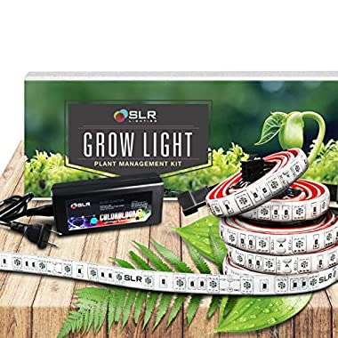 SLR 5pc LED Grow Light 20 Inch Strips Kit for Indoor Plants, Gardens, Greenhouses, Vegetables, Herbs, & Flowers with 250 Red & 50 Blue for Hydroponics and Horticulture [Full Kit w/ plug]
