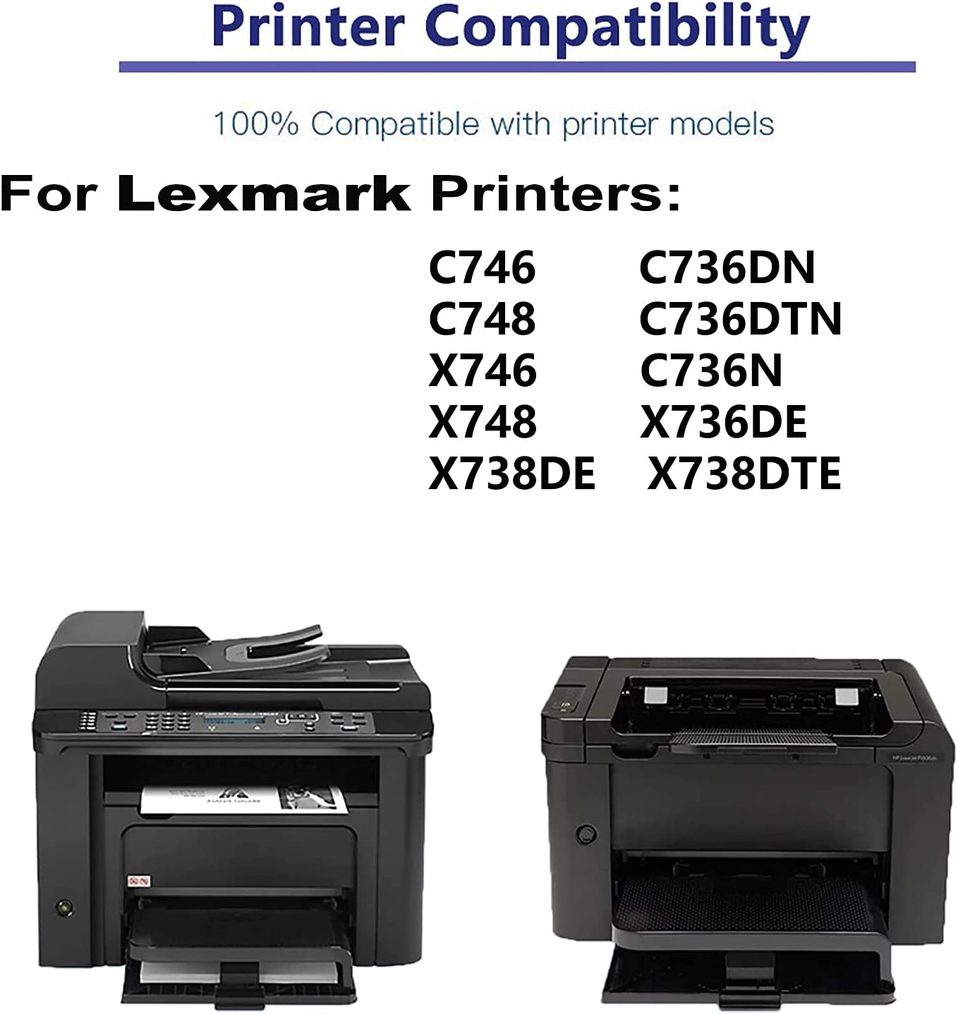 1-Pack (Magenta) Compatible C736DN, C736DTN, C736N Printer Toner Cartridge High Capacity Replacement for Lexmark C736H2MG Toner Cartridge