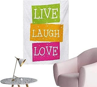 Anzhutwelve Live Laugh Love Wallpaper Lifestyle Message in Vibrant Tones Joyful Life Philosophy Wise Words DesignMulticolor W20 xL28 Art Poster