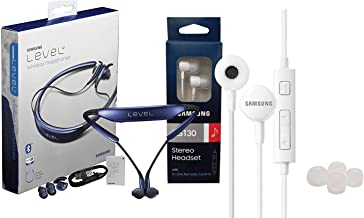 Samsung Level U Bluetooth Headset - HD Sound - with Samsung Headset 3.5mm Jack Universal with Extra Ear Gel (Retail Packing)