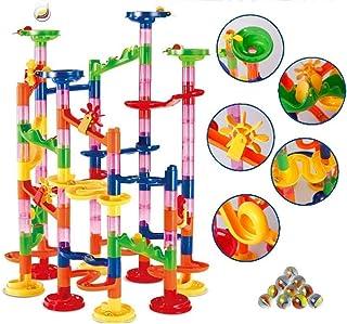 Entregando amor e paz 知育玩具 組立式 スロープ おもちゃ 105ピース ブロック 思考力 想像力 発想力 連想力 考える力を育てる ビー玉30個付属 幼児 子ども 小学生 男の子 女の子 おもちゃ 贈り物 誕生日 プレゼ...
