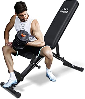 FLYBIRD Weight Bench, Utility Adjustable Bench for Full Body Workout, Multi-Purpose Foldable Incline Decline Benchs - 2019...