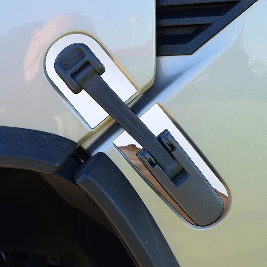 Ferreus Industries Polished Stainless Hood Latch Trim fits: 2003-2009 Hummer H2 OTH-100-04