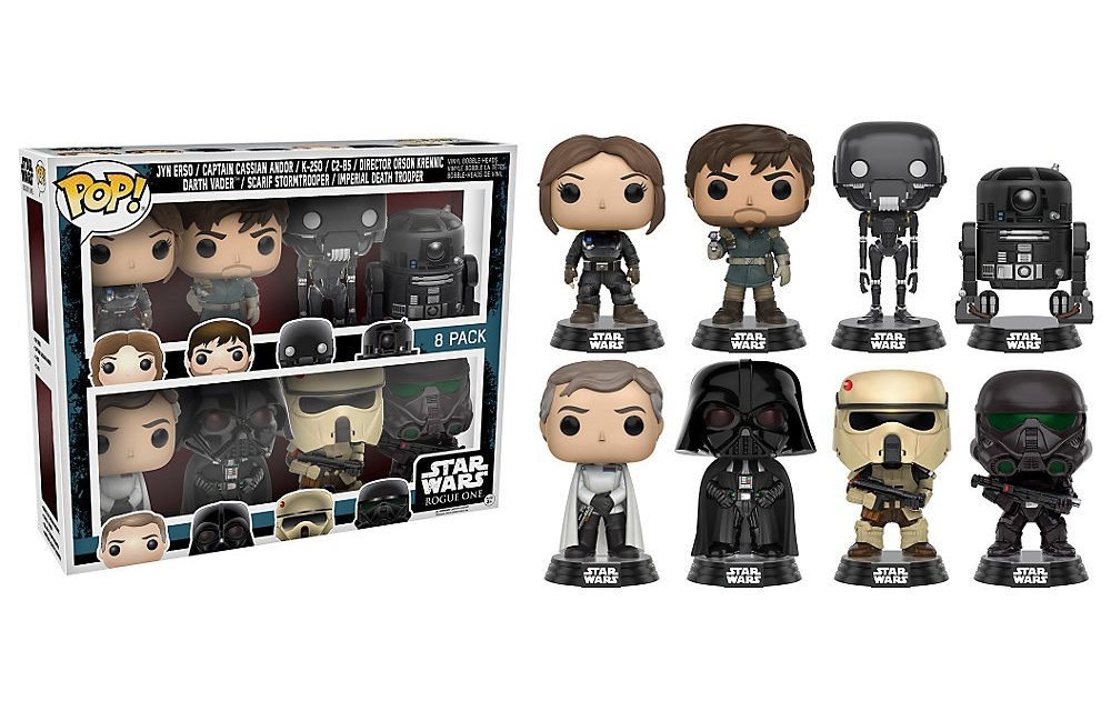 Star Wars Funko Pop Rogue One Vinilo Bobblehead Figuras 8 Pack ...