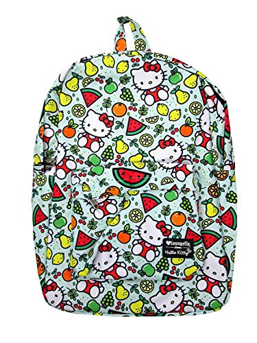 Loungefly x Hello Kitty Fruit Allover-Print Nylon Backpack (Multicolored, One Size)