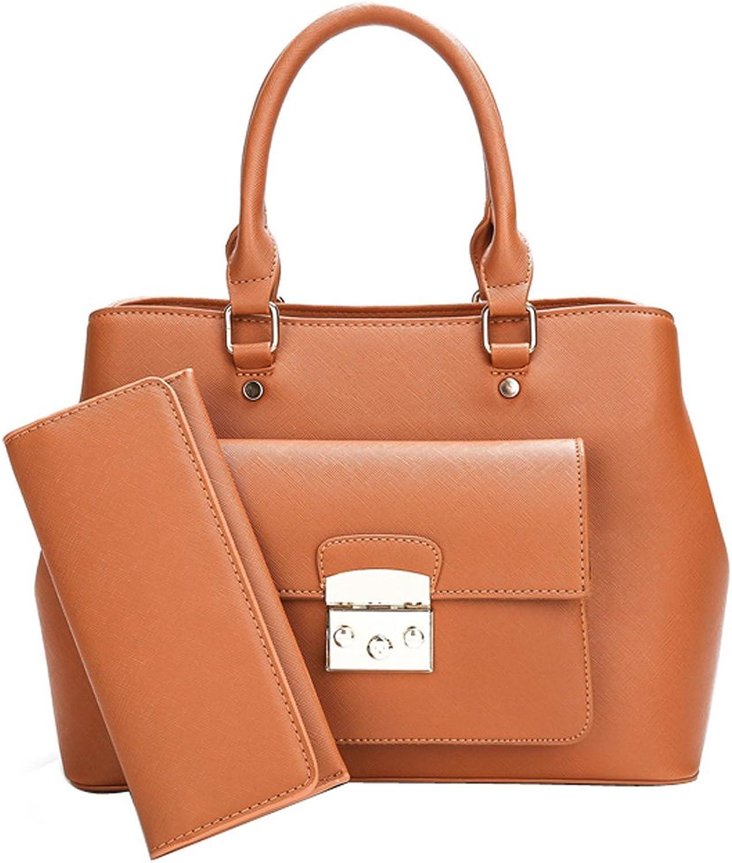 BalaMasa Womens Solid Soft Pu Top Handle Handbag